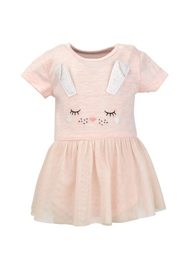 Mininio Pembe Bunny Tül Etekli Body (0-18ay) Pembe Bunny Tül Etekli Body (0-18ay) Pembe